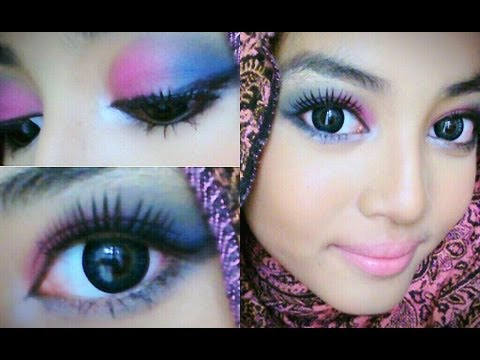 Malaysian Bridal Makeup ❤Purple & Blue❤