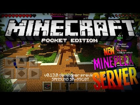 MCPE NEW MINEPLEX SERVER CONCEPT! (0.14.2-0.15.0)- Kits. VIP. & MORE!   Minecraft Pocket Edition
