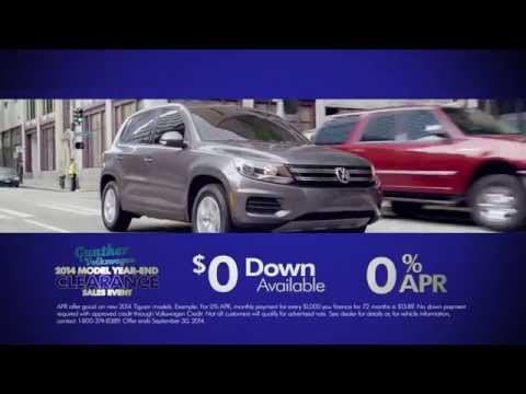 2014 Volkswagen Tiguan model year end clearance sales event at Gunther Volkswagen of Fort lauderdale