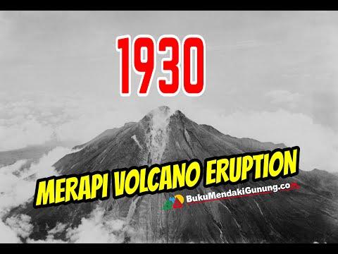 Video Asli Gunung Merapi Meletus  tahun 1930