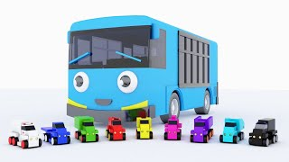 Colors for Children to Learn with Bus Tayo Truck Transporter Toy Street Vehicles Educational Videos