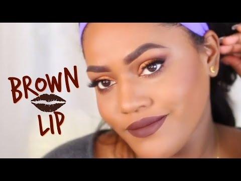 HOW TO WEAR DARK BROWN LIPSTICK MAKEUP!