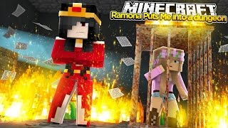 Minecraft Little Kelly : RAMONA TRAPS BABY ELLIE AND I IN A DUNGEON!