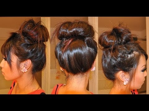 How To Do A Messy Bun With Hair Extensions YouTube
