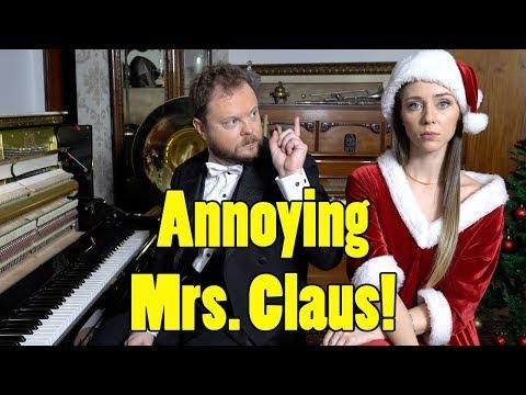 Annoying Mrs. Claus Vídeos de zueiras e brincadeiras: zuera, video clips, brincadeiras, pegadinhas, lançamentos, vídeos, sustos
