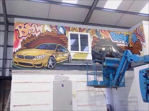 kELzO.com - Graffiti Time Lapse - BMW car showroom