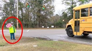 School Teacher Captured This Crossing Guard On Camera, Then The Picture Swept The Internet