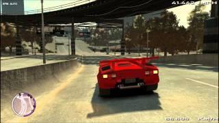 GTA IV Lamborghini Countach 5000QV Mod Review/How I Drive Presentation