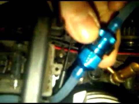 installing a nitro fuel filter