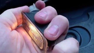 how to change number plate lights on Ford Fiesta Mk 6 (2009-2013)