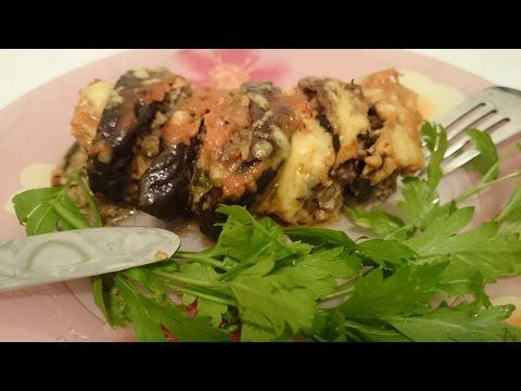 Блюда из баклажан - запеканка с фаршем в духовке Секрет рецепта горячего на второе фаршированные