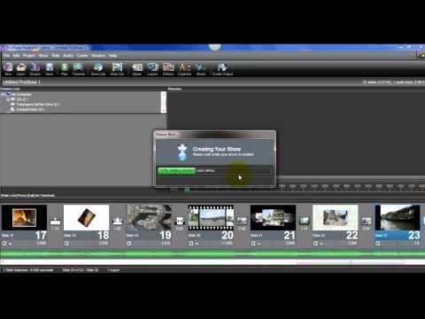 วิธีใช้งานโปรแกรม ProShow  Producer 4.52