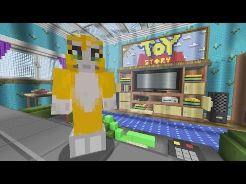 Minecraft Xbox Toy Story 2 Living Room {2}