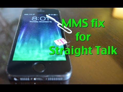 MMS For Straight Talk: iPhone 5s, 5c, 5, 4s, 4