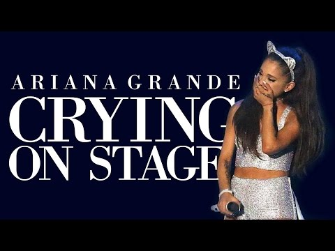 Ariana Grande Crying On Stage 2016