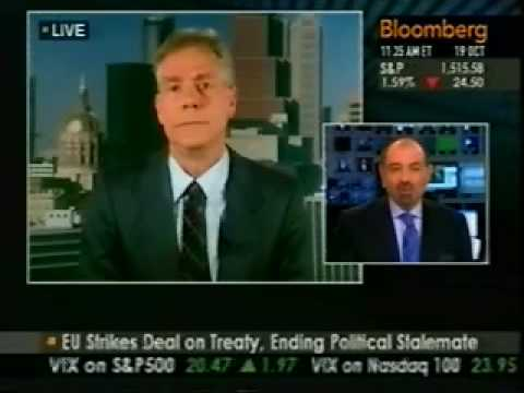 Stock Market Crash - Robert Prechter on Bloomberg - Oct. 19, 2007
