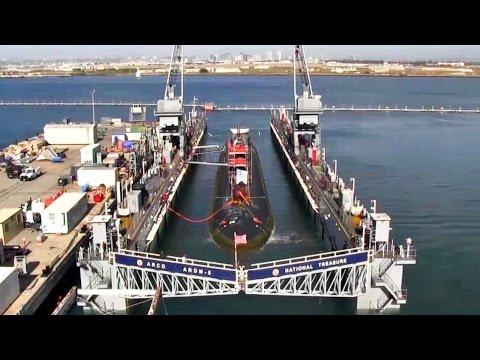 Massive Navy Nuclear Submarine Dry Dock