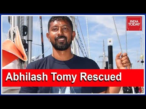Breaking | Stranded Naval Commander Abhilash Tomy Rescued
