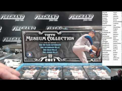 2017 Topps Museum Collection Baseball 6 Box Half Case Break Random Teams #7 ~ 6/25/17