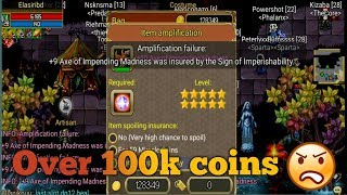 Amping lv28 lifesteal axes Full +10  - warspear online