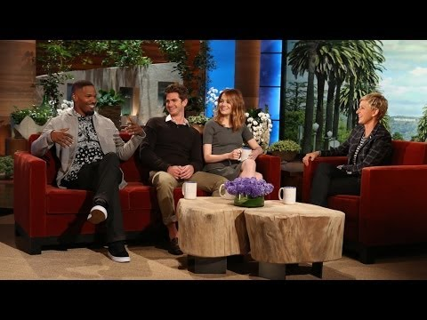 Emma Stone and Jamie Foxx on 'The Amazing Spider-Man 2'