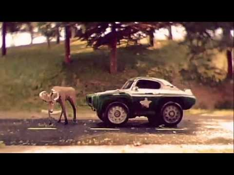 Stop-motion car chasing animation.