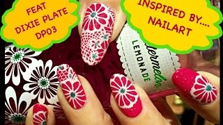 💮Inspired by....Nailart - weekly manicure feat Dixie Plate DP 03💮