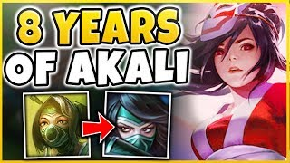 Professor Akali - Final Pre-Rework Montage (8 Years of Playing Akali in 10 Minutes)