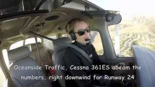 Cessna 172 Solo Flight KCRQ (Carlsbad) to KOKB (Oceanside) with Cockpit ATC Audio