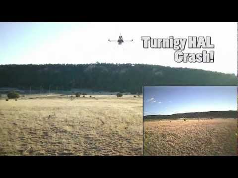 Turnigy HAL quadcopter crash FPV