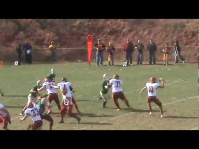 11-3-12 - Mitch Tormohlen finds Ben Mickey for a 20 yard TD (Brush 6, Manitou Springs 6)