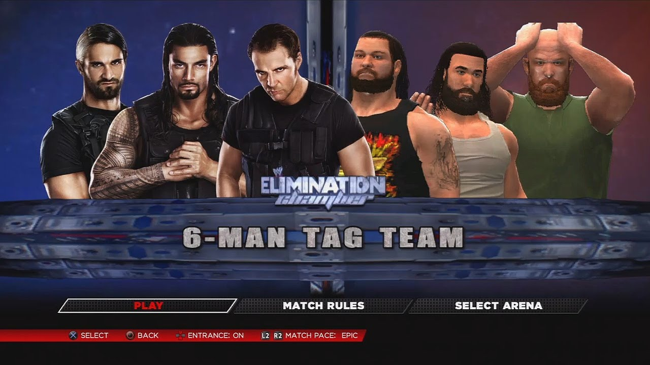 maxresdefault jpgWwe 2k14 The Wyatt Family Vs The Shield