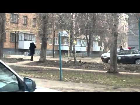 crazey police man on the car