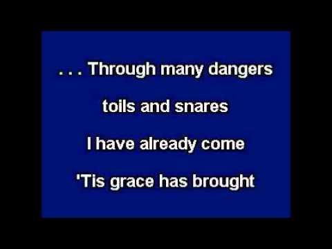 Amazing Grace Karaoke Instrumental Backing Track Lyrics In G video