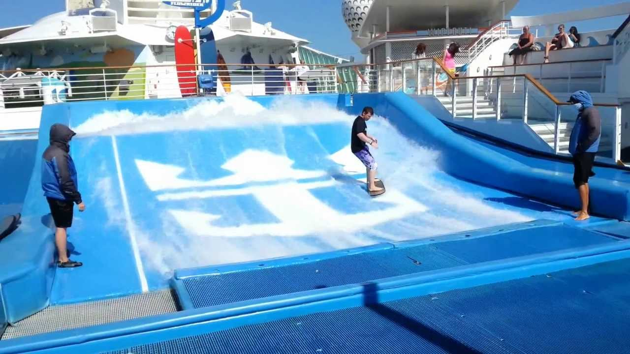 Flowrider Royal Caribbean Surfing 360 Youtube