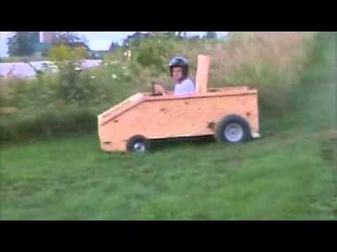 a simple wooden gokart with engine a website