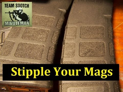 AR 15 Magazine Stippling  Art or Function?