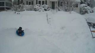 Another luge run in the Blizzard of 2010