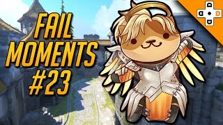 Overwatch FAIL MOMENTS #23 - Mercy's Worst POTG Rez Ever | Highlights Montage