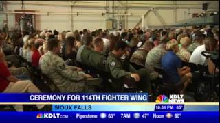 Noem Speaks at Deployment Ceremony for SD Air National Guard's 114th Fighter Wing (KDLT)