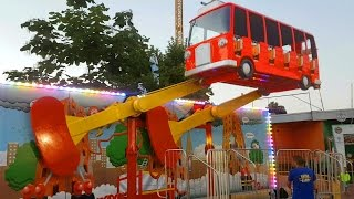 Download Outdoor playground for kids with flying bus. Funny video from KIDS TOYS CHANNEL 3Gp Mp4