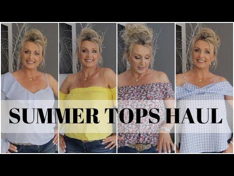 SUMMER (2017) TOPS HAUL - ASOS, BANANA REPUBLIC, ANTHROPOLOGY | SUMMER FASHION WEEK Pt 2 👜👗👗