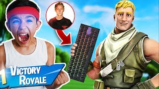Little Brother Wins A Solo Pop-Up Cup With FaZe Tfue's Keyboard!