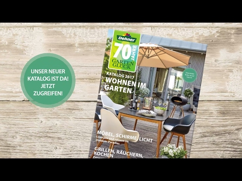 """Die Garten Trends 2017 - Dehner Katalog """"Wohnen im Garten"""""""