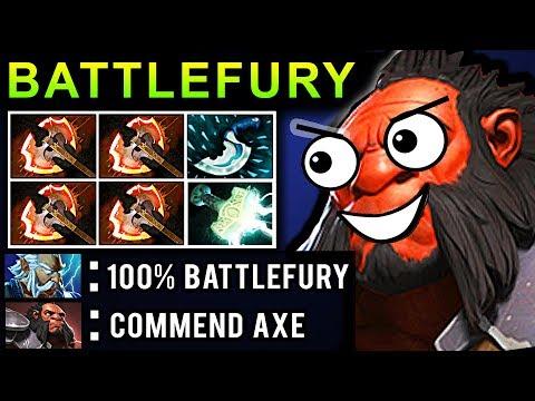 OMG BATTLEFURY AXE DOTA 2 PATCH 7.07 NEW META PRO GAMEPLAY