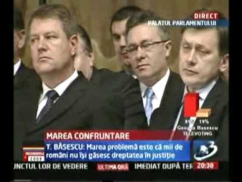 Confruntarea finala prezidentiale 2009 Traian Basescu vs Mircea Geoana (vizita la Vantu)