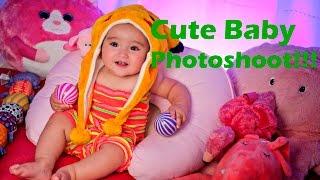 Baby in Cute Portrait and Headshot Photoshoot - Creative Lighting