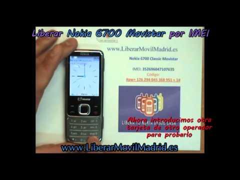 Liberar Nokia 6700 Classic Movistar por Código IMEI - www.LiberarMovilMadrid.es