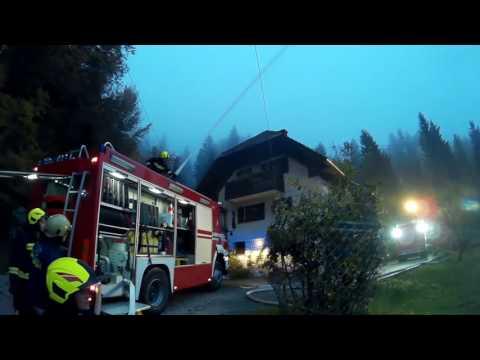 Gasilska vaja: travniški požar nad šolo v Dolini, 19. 10. 2016 #1