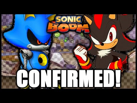 Sonic Boom - Shadow the Hedgehog and Metal Sonic Confirmed!